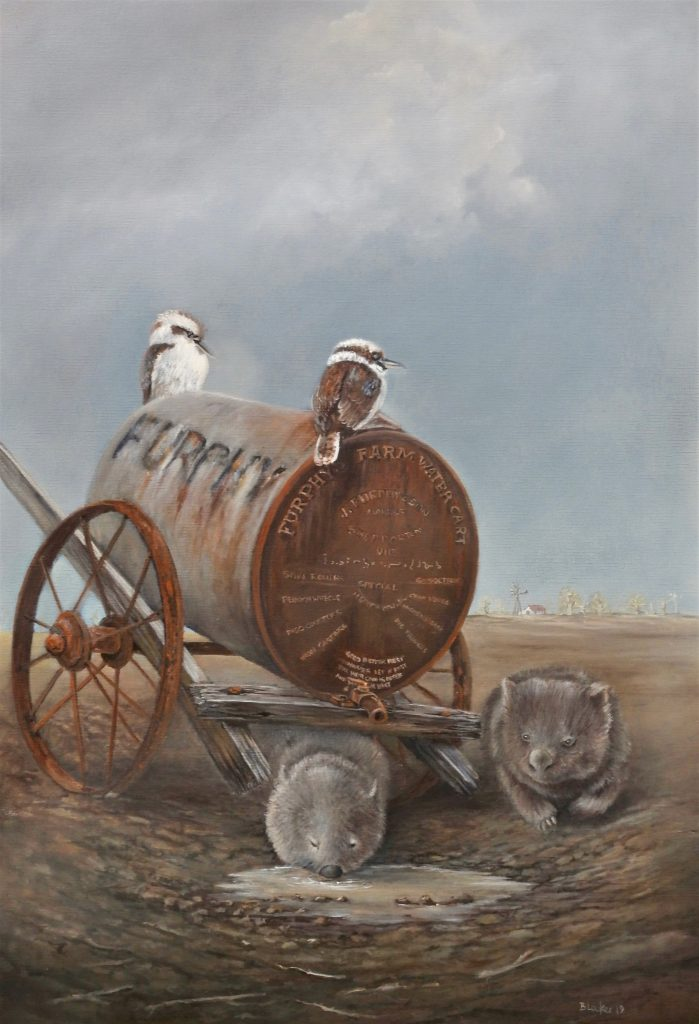 Another Furphy oil on canvas 76 cm H x 51 cm W (SOLD)