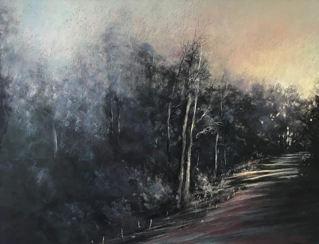 'Road to Derby' - pastel - SOLD