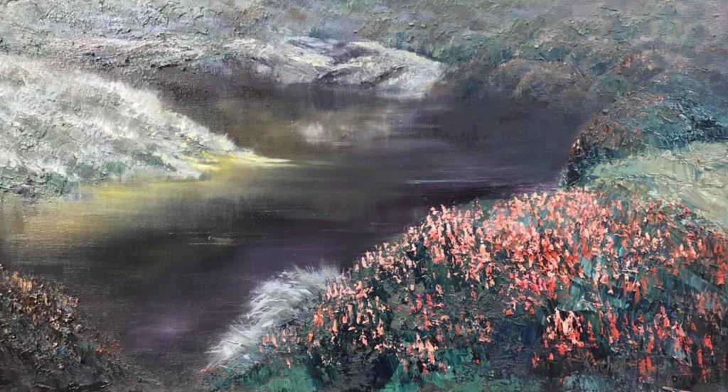 'Walls of Jerusalem Richea' - SOLD - oil on linen - 50 cm H x 93 cm W