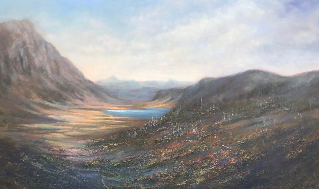 'Walls of Jerusalem' - oil on linen - 90 cm H x 150 cm W