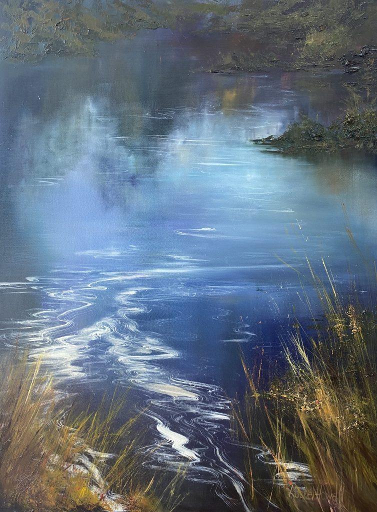 'Near Lake Roseby' - SOLD - oil on linen - 110 cm H x 82 cm W