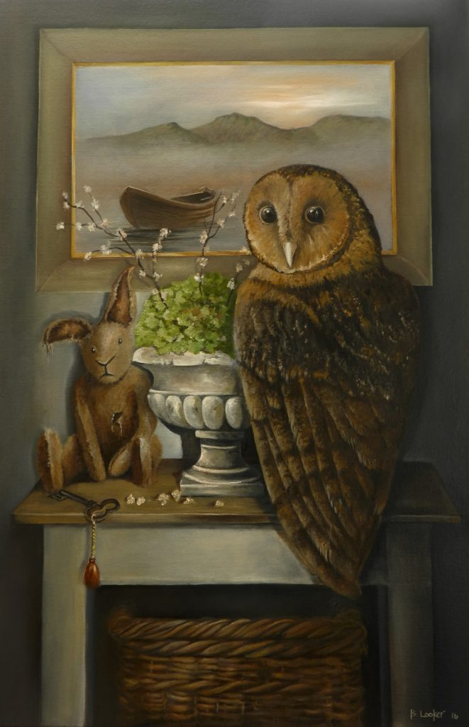 Unexpected Visitor oil on canvas 76 cm H x 51 cm W (SOLD)