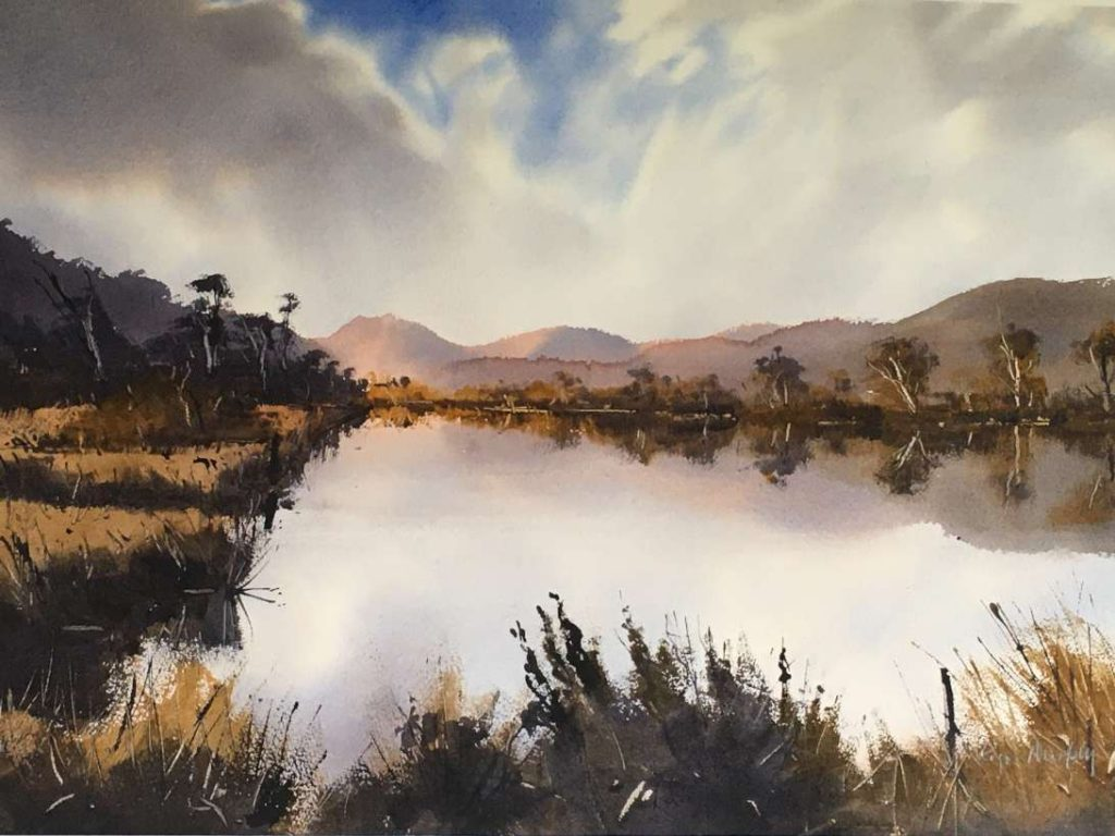'Reflections Huon River' - SOLD