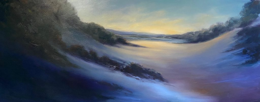 'Binalong Bay' - SOLD - oil on canvas - painting 61 cm H x 153 cm W - not framed