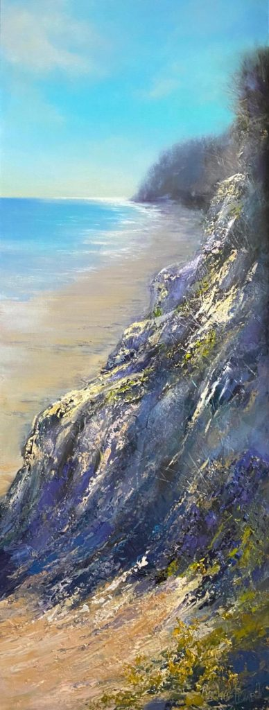 'West Head' - oil on linen - painting 130 cm H x 50 cm W - not framed